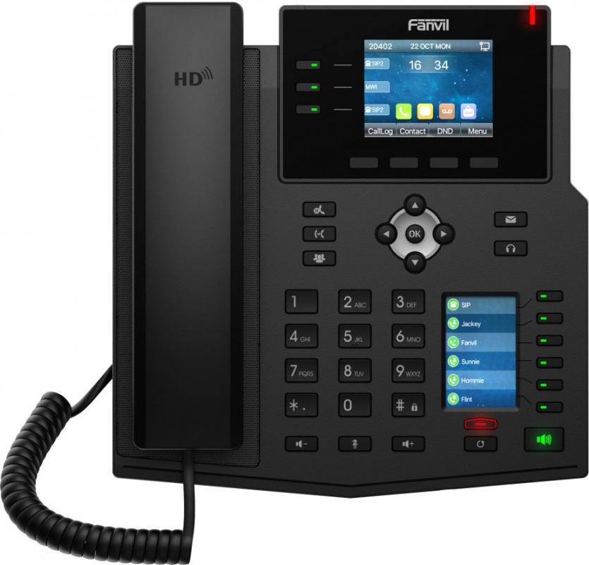 Телефон IP Fanvil X4U черный