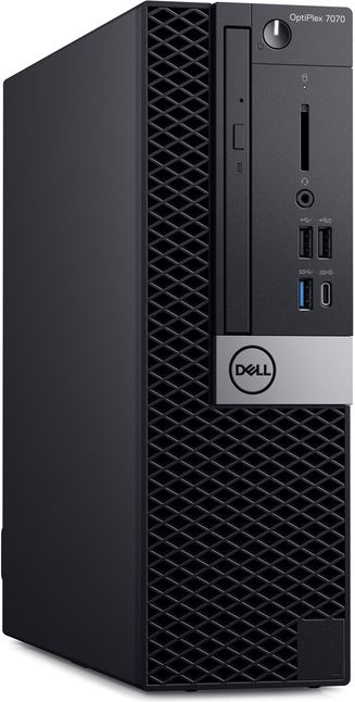 ПК Dell Optiplex 7070 SFF i7 9700 (3)/8Gb/1Tb 7.2k/SSD256Gb/RX 550 4Gb/DVDRW/CR/Windows 10 Professional 64/GbitEth/WiFi/