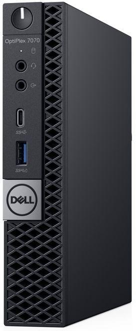 ПК Dell Optiplex 7070 Micro i7 9700 (3)/8Gb/SSD256Gb/UHDG 630/Linux Ubuntu 64/GbitEth/WiFi/BT/130W/клавиатура/мышь/черны