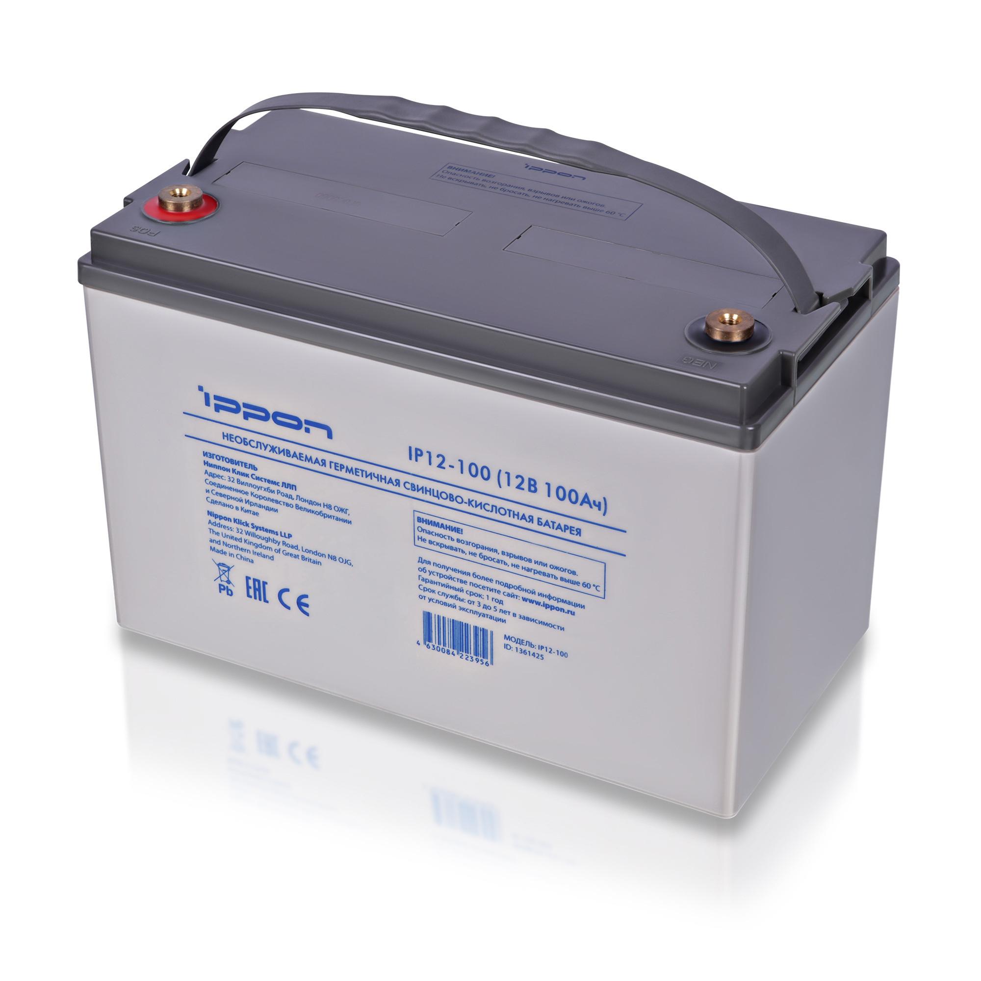 Аккумулятор Ippon IP12-100 12В 100Ач