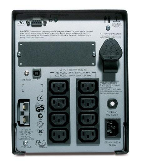 ИБП APC Smart-UPS XL SUA1000XLI 1000ВА черный