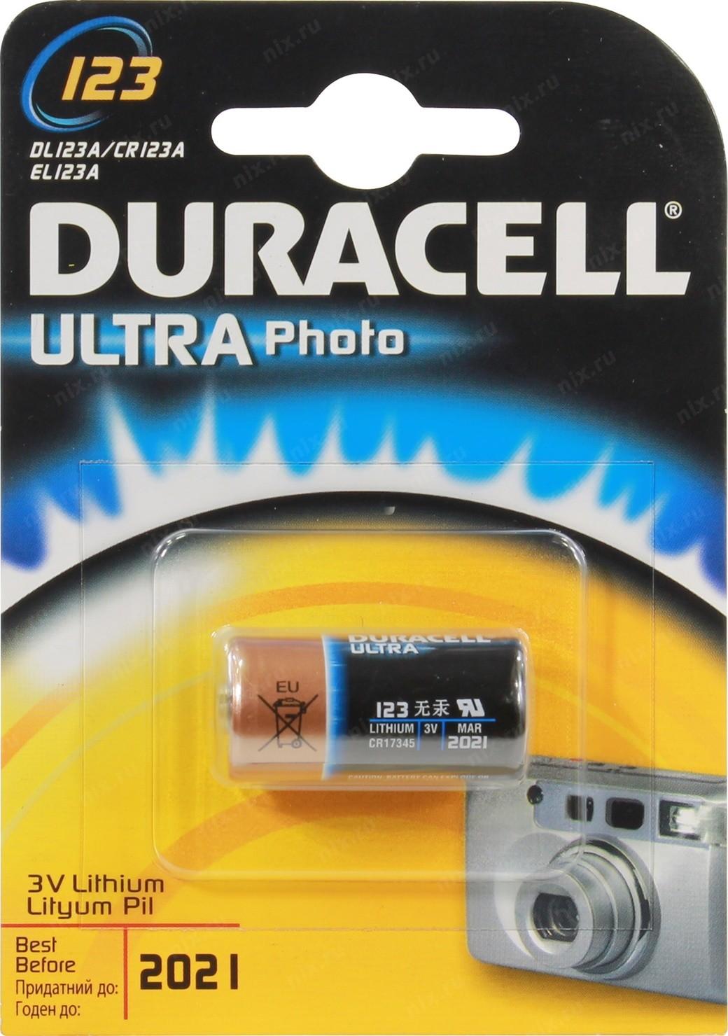 Батарея Duracell Ultra CR17345 CR123A (1шт)