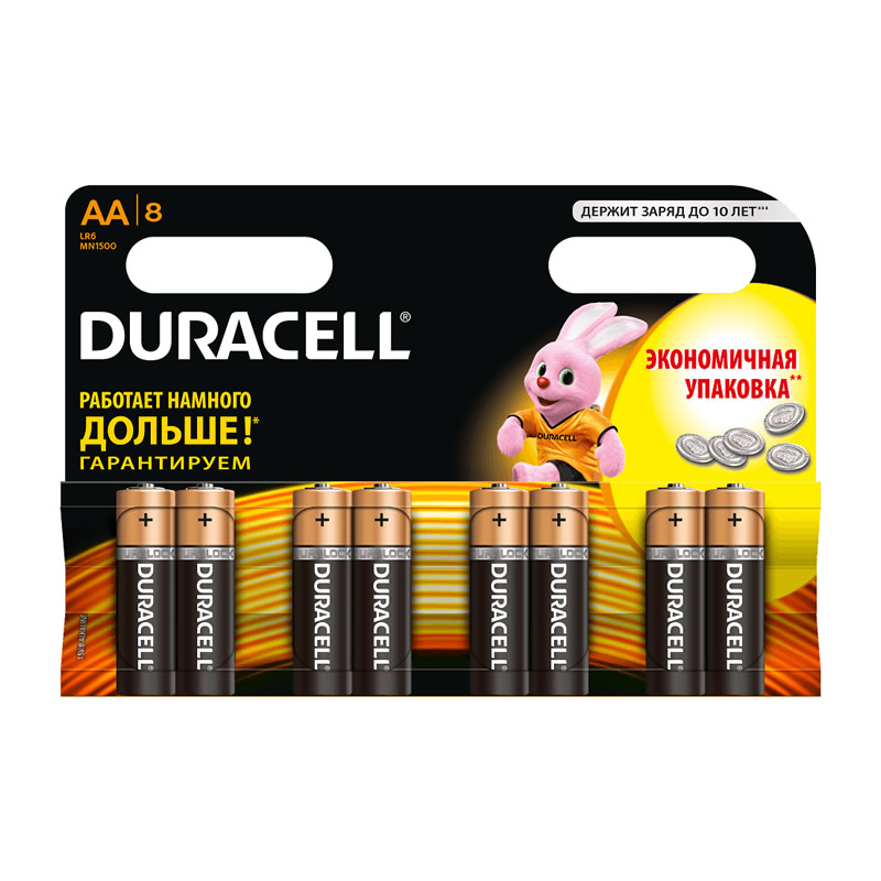 Батарея Duracell Basic LR6-8BL MN1500 AA (8шт)