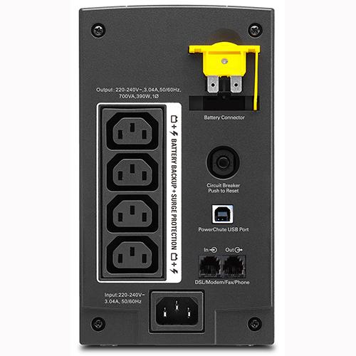 ИБП APC Back-UPS BX700UI 390Вт 700ВА черный