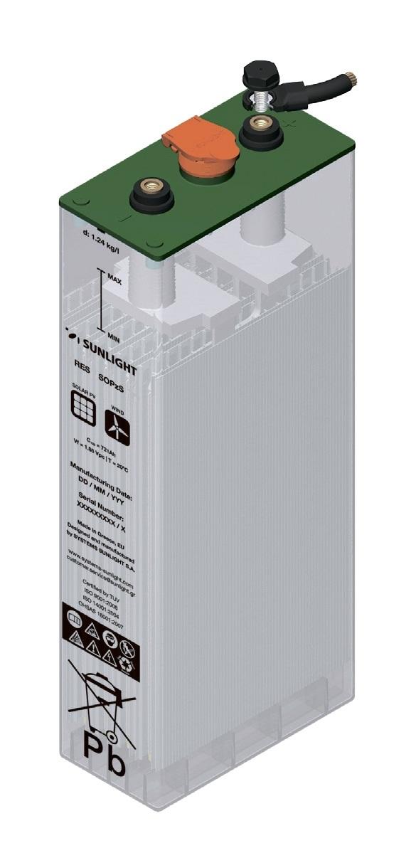 Аккумулятор Sunlight 2V 2 RES OPzS 185