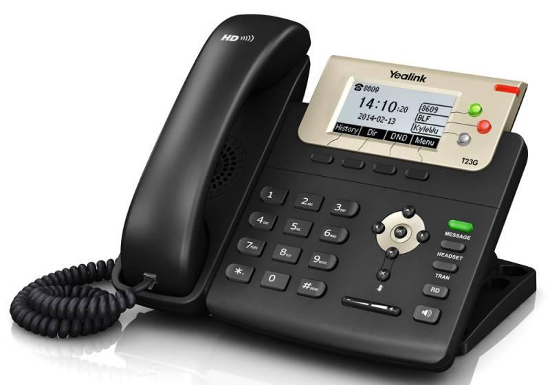Телефон SIP Yealink SIP-T23G черный