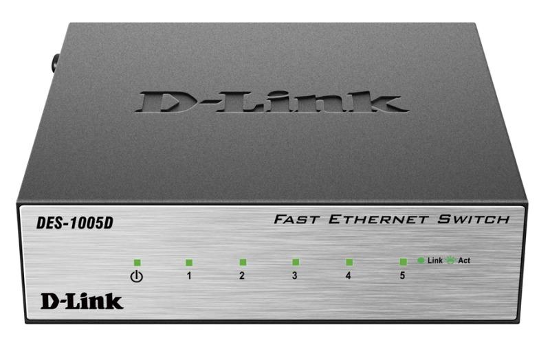Коммутатор D-Link DES-1005D/O2B 5x100Mb неуправляемый