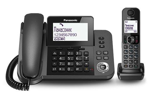 Р/Телефон Dect Panasonic KX-TGF310RUM серый металлик АОН