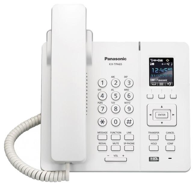 Телефон SIP Panasonic KX-TPA65RU белый