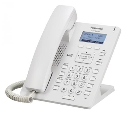 Телефон SIP Panasonic KX-HDV130RU белый