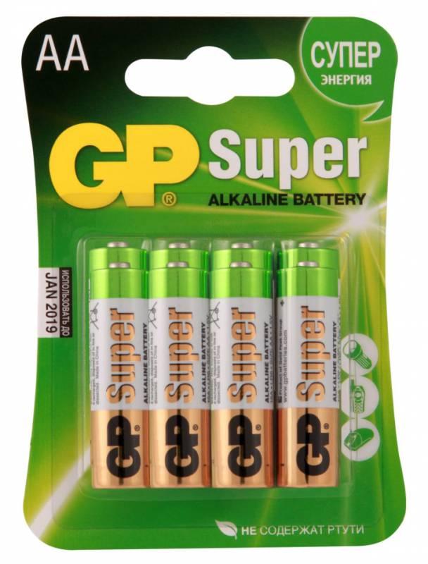Батарея GP Super Alkaline 15A LR6 AA (8шт)