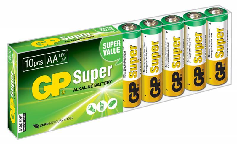Батарея GP Super Alkaline 15A LR6 AA (10шт)