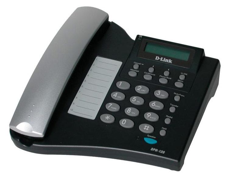 Телефон IP D-Link DPH-120S/F1B черный