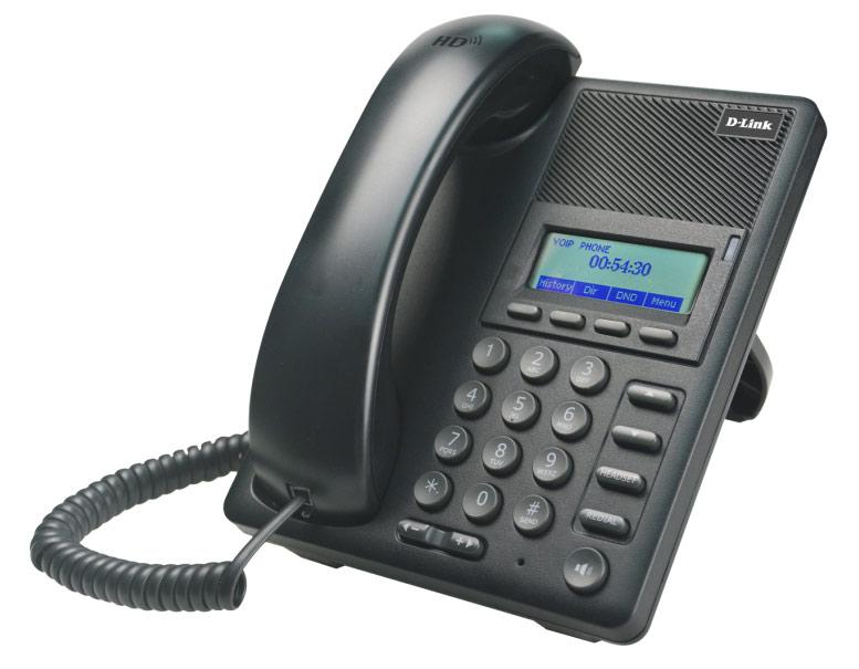 Телефон IP D-Link DPH-120SE/F1 черный