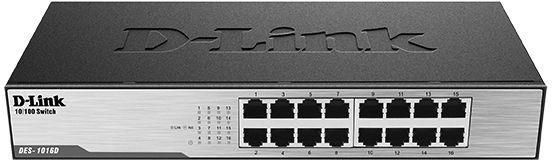 Коммутатор D-Link DES-1016D/H1A 16x100Mb неуправляемый