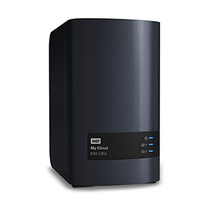 Сетевое хранилище NAS WD Original 12Tb WDBSHB0120JCH-EEUE My Cloud EX2 Ultra 2xDisk 2-bay