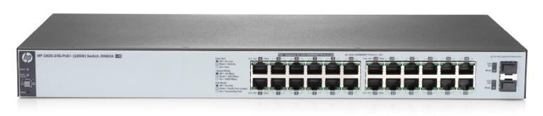 Коммутатор HPE OfficeConnect 1820 J9983A 24G 2SFP 12PoE+ 185W