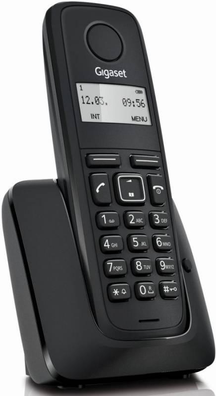 Р/Телефон Dect Gigaset A116 черный АОН