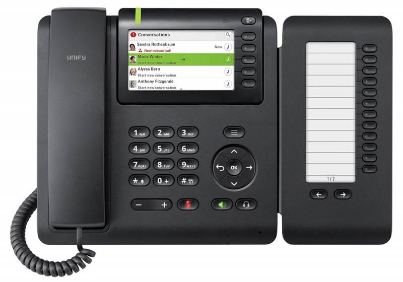 Телефон SIP Unify OpenScape CP600E черный (L30250-F600-C433)