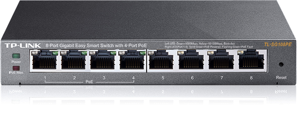 Коммутатор TP-Link TL-SG108PE 8G 4PoE 55W управляемый