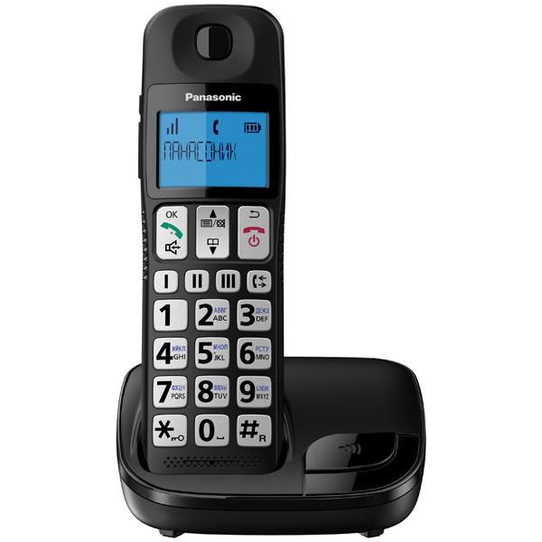 Р/Телефон Dect Panasonic KX-TGE110RUB черный АОН