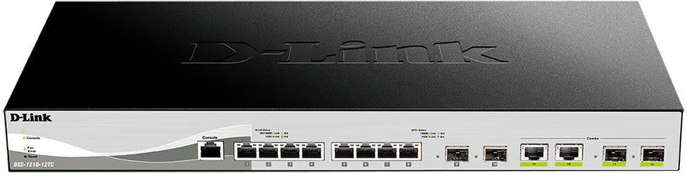 Коммутатор D-Link DXS-1210-12TC 8x10G 2SFP+ настраиваемый