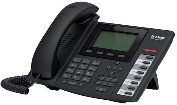 Телефон IP D-Link DPH-400GE черный (DPH-400GE/F2)