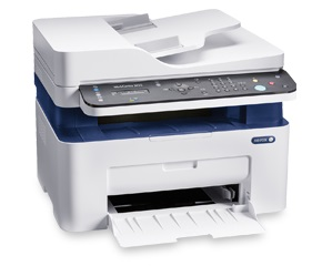 МФУ лазерный Xerox WorkCentre B205NI# (B205V_NI) A4 Net WiFi белый/синий