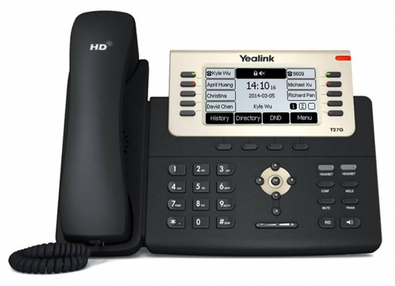 Телефон SIP Yealink SIP-T27G черный