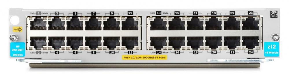Модуль HPE J9986A 24p 1000BASE-T PoE+ v3 zl2