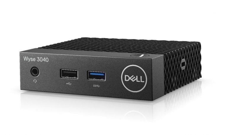 Тонкий Клиент Dell Wyse Thin 3040 (1.44)/2Gb/SSD8Gb/HDG400/ThinOs/GbitEth/15W/мышь/черный