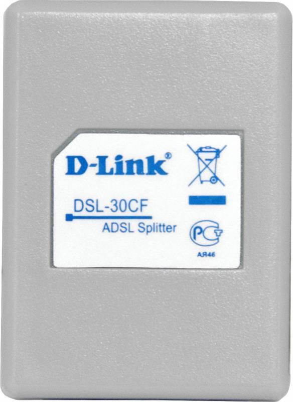 Сплиттер DialUp D-Link DSL-30CF/RS RJ-11 Annex A/L/M белый