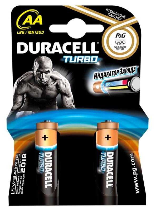 Батарейка Duracell Turbo LR6-2BL-2 AA (2шт. уп)