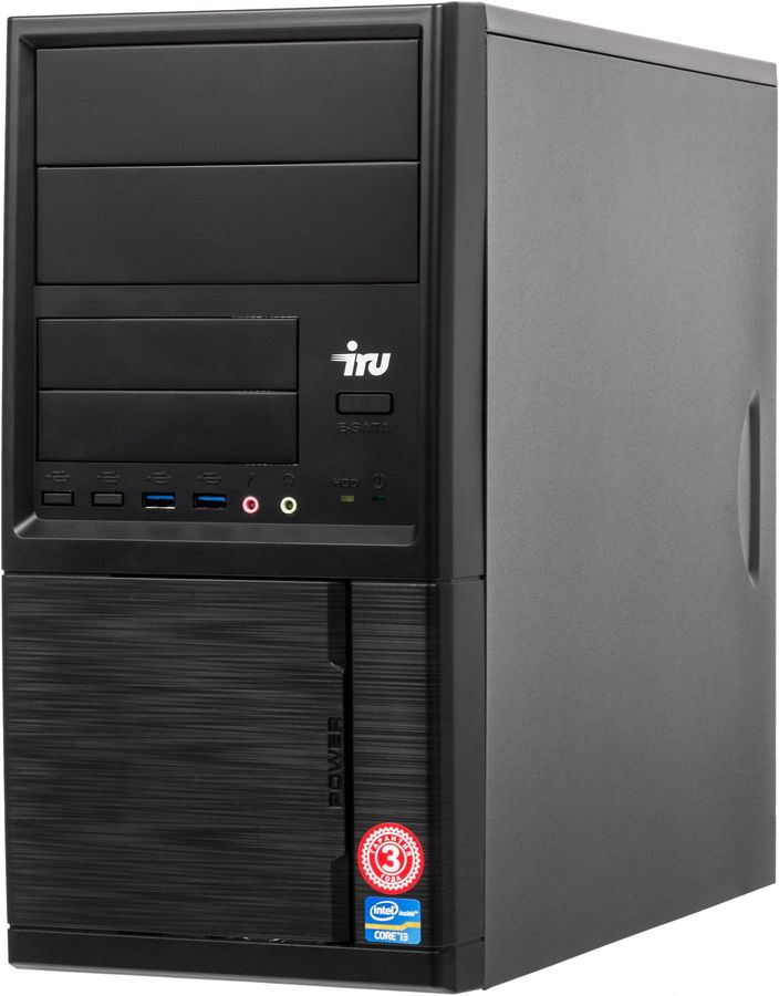 ПК IRU Home 228 MT A8 9600 (3.1)/4Gb/1Tb 7.2k/R7/Windows 10 Home Single Language/GbitEth/400W/черный
