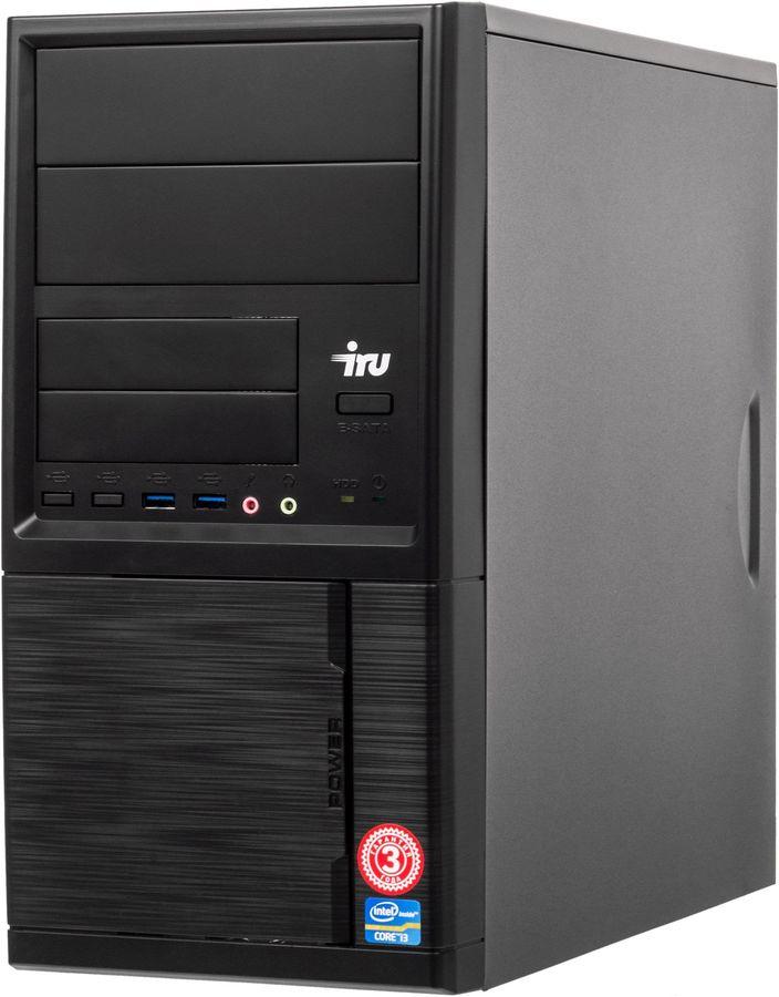 ПК IRU Home 313 MT i3 9100F (3.6)/8Gb/1Tb 7.2k/SSD120Gb/GTX1050Ti 4Gb/Windows 10 Home Single Language 64/GbitEth/400W/че