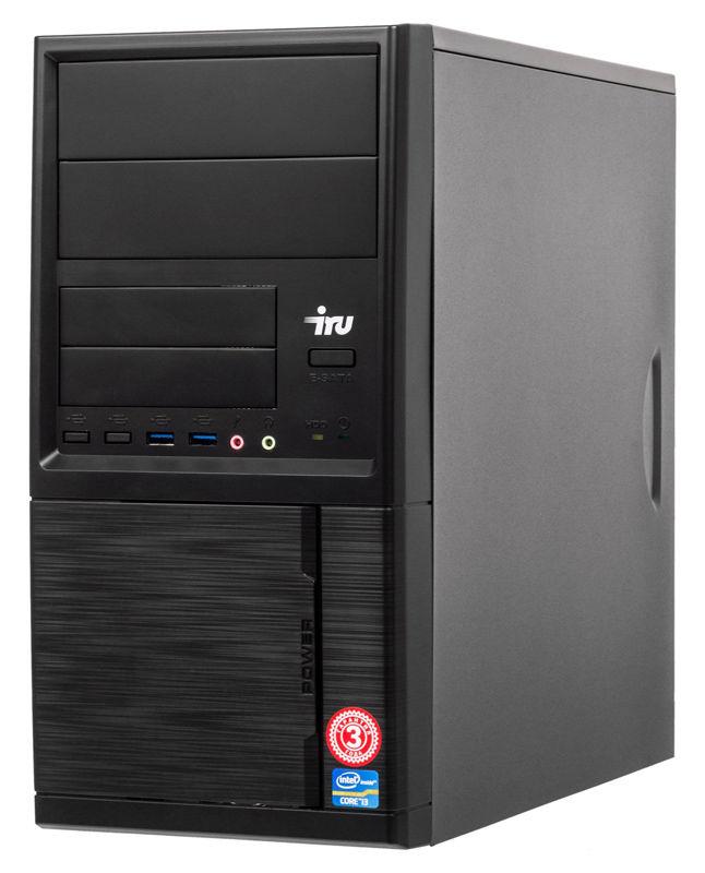 ПК IRU Office 313 MT i3 9100F (3.6)/4Gb/1Tb 7.2k/GT710 1Gb/Windows 10 Home Single Language 64/GbitEth/400W/черный