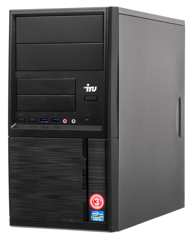 ПК IRU Office 315 MT i5 9400F (2.9)/8Gb/SSD240Gb/GT710 1Gb/Windows 10 Home Single Language 64/GbitEth/400W/черный