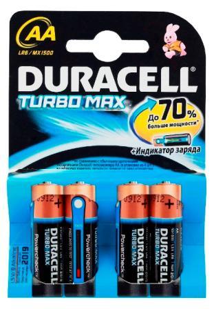 Батарейка Duracell LR6-4BL Turbo AA 4шт