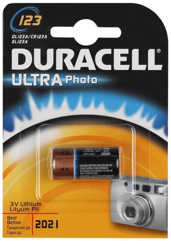 Батарейка Duracell DL123A Ultra
