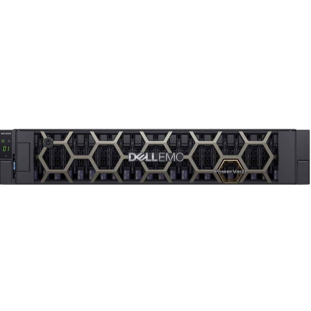 Система хранения Dell ME4024 x24 14x2.4Tb 10K 2.5 SAS 2x580W PNBD 3Y 2xCTL SAS 12Gb/s (210-AQIF-48)