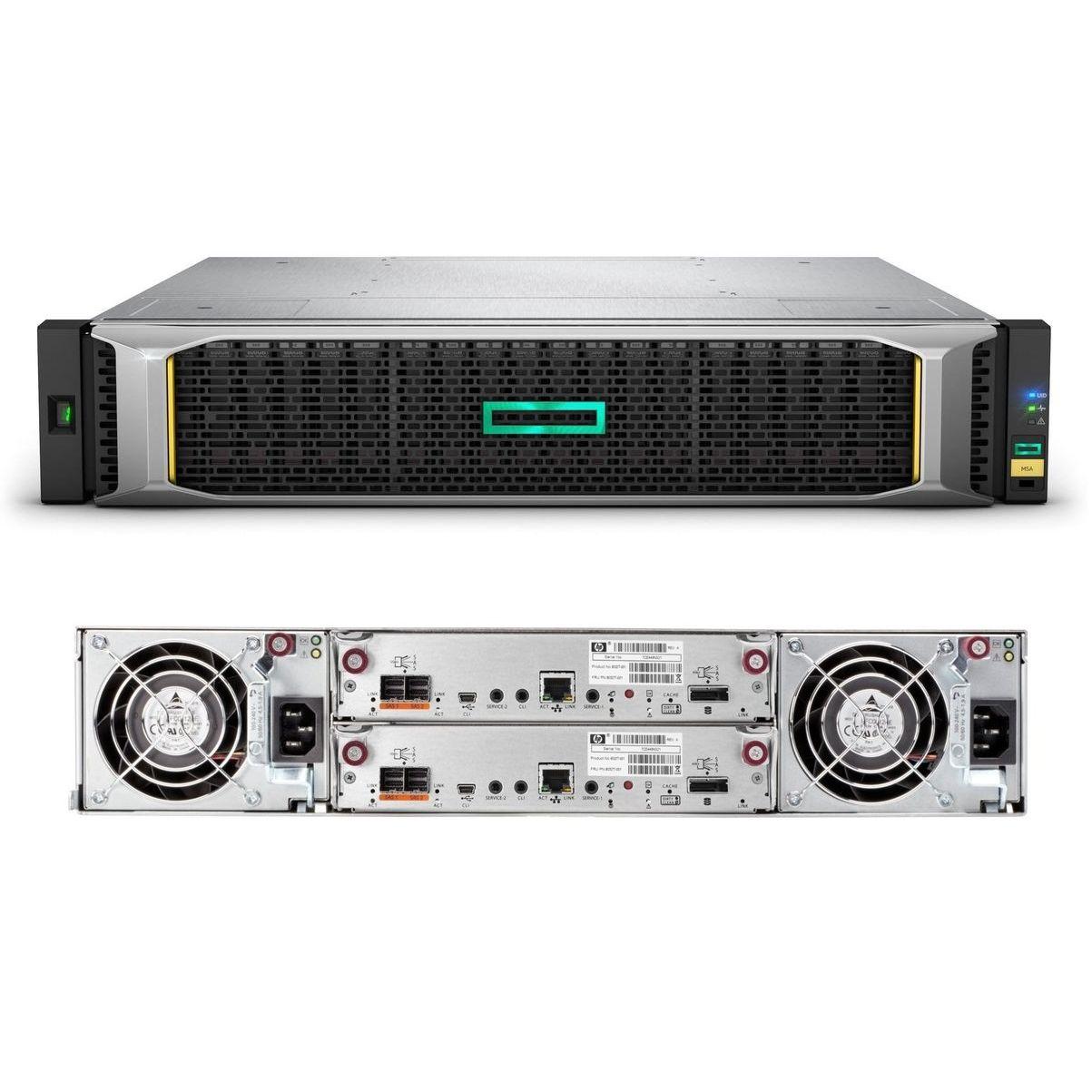 Система хранения HPE MSA 2052 x12 3.5 SAS 2x SAN DC (Q1J30A)