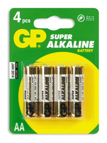 Батарея GP Super Alkaline 15A LR6 AA (4шт)