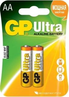 Батарея GP Ultra Alkaline 15AU LR6 AA (2шт)