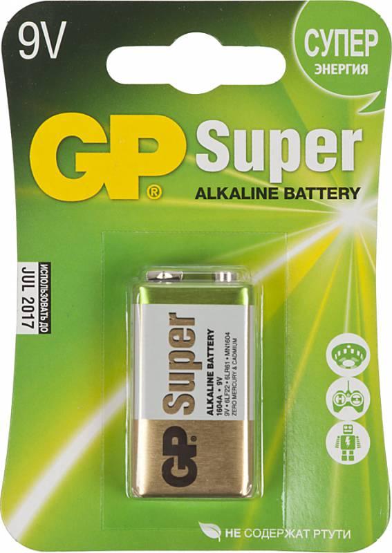Батарейка GP 1604A-BC1 9V E 1шт