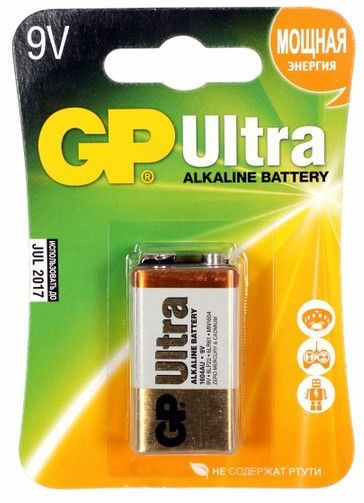 Батарея GP Ultra Alkaline 1604AU 6LR61 9V (1шт)