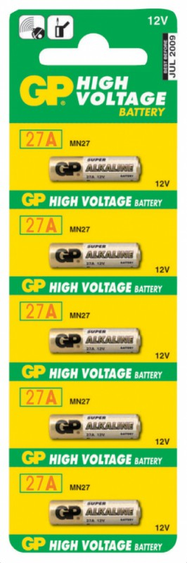 Батарея GP Super Alkaline 27A MN27 (5шт)