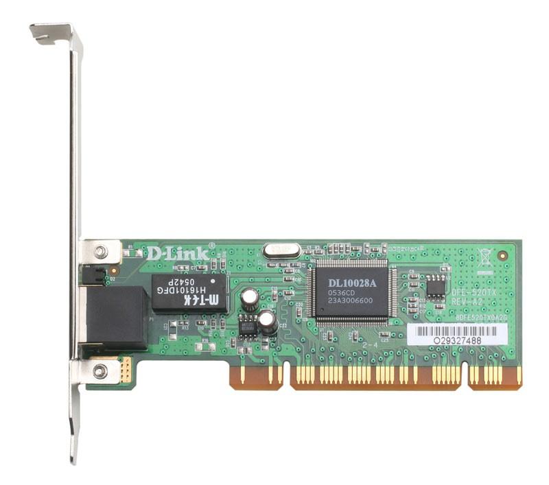 Сетевой адаптер Fast Ethernet D-Link DFE-520TX/D1A DFE-520TX PCI