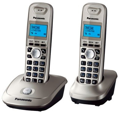 Р/Телефон Dect Panasonic KX-TG2512RUN платиновый (труб. в компл.:2шт) АОН