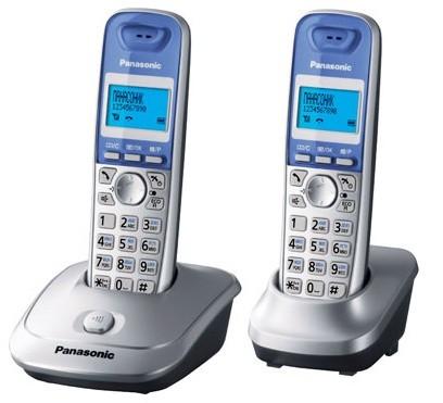 Р/Телефон Dect Panasonic KX-TG2512RUS серебристый (труб. в компл.:2шт) АОН