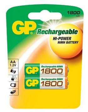 Аккумулятор GP 180AAHC AA NiMH 1800mAh (2шт)